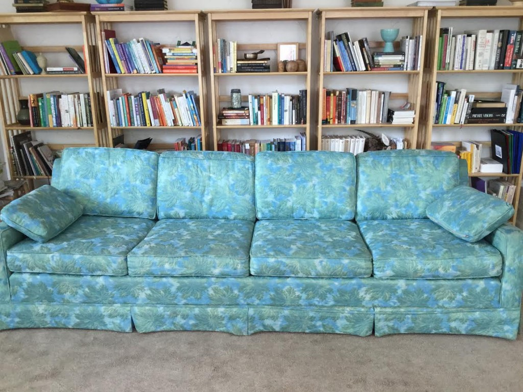 I rehomed my vintage couch, several bags of books + the carpet in my office this week to make space for the new... sustainable bamboo flooring + a yoga/meditation space for our home.